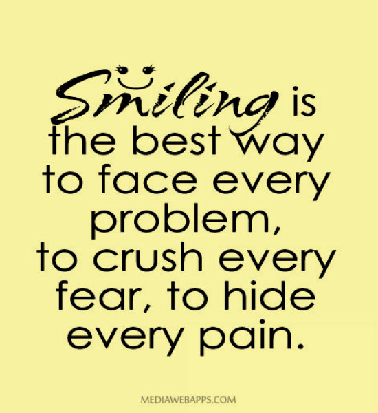 Quotes About Smile And Pain 50 Quotes